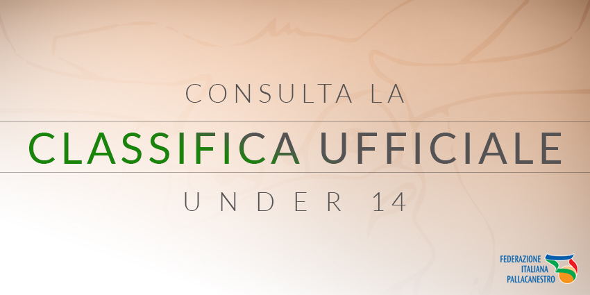 Classifica Under 14 FIP